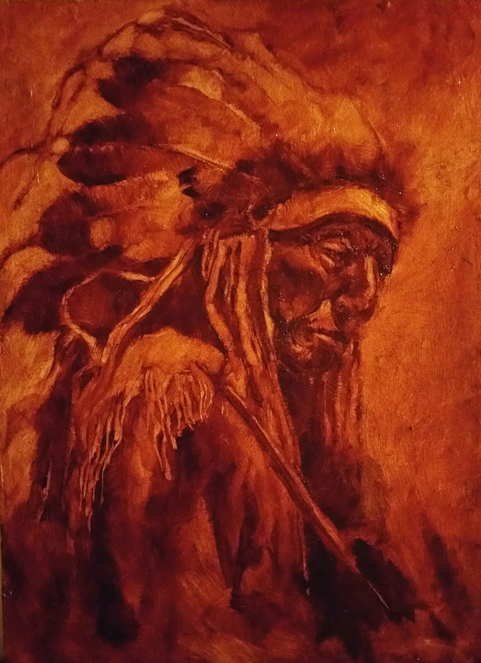 painting of native america by jeanjoel spatafora